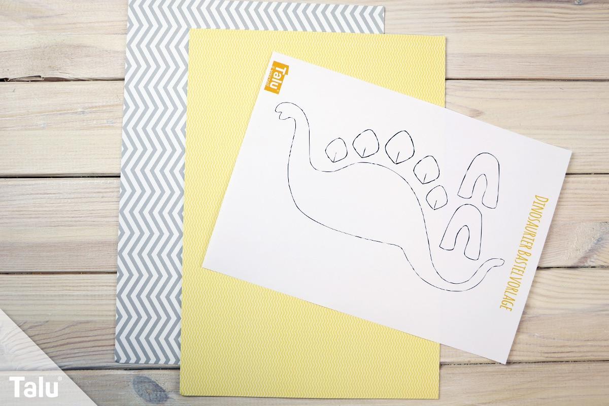 Dinosaurier Basteln Aus Papier Pappe Anleitung 13