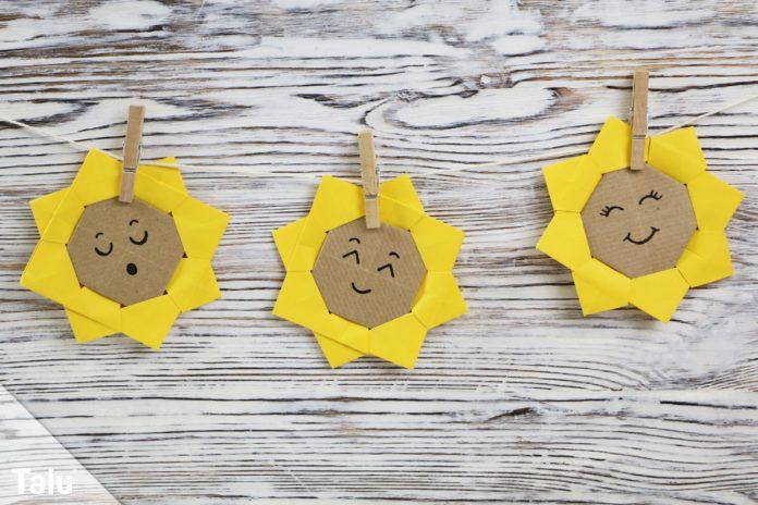 Origami Sonnenblume falten