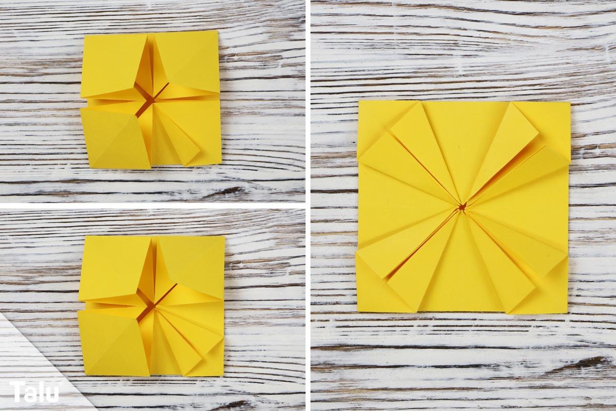 Origami-Sonnenblume falten