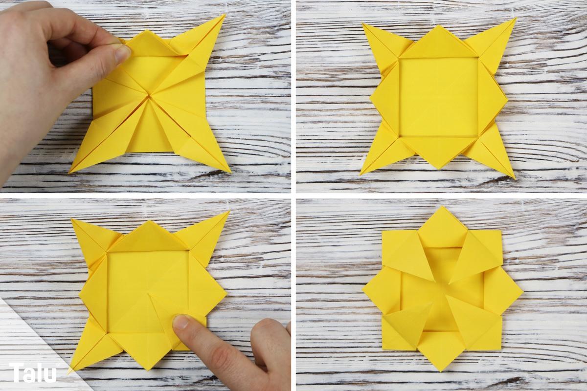 Papier-Sonnenblume falten