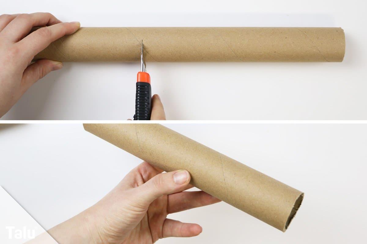 Pappröhre zuschneiden
