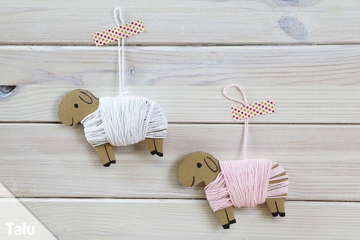 Schaf aus Wolle basteln