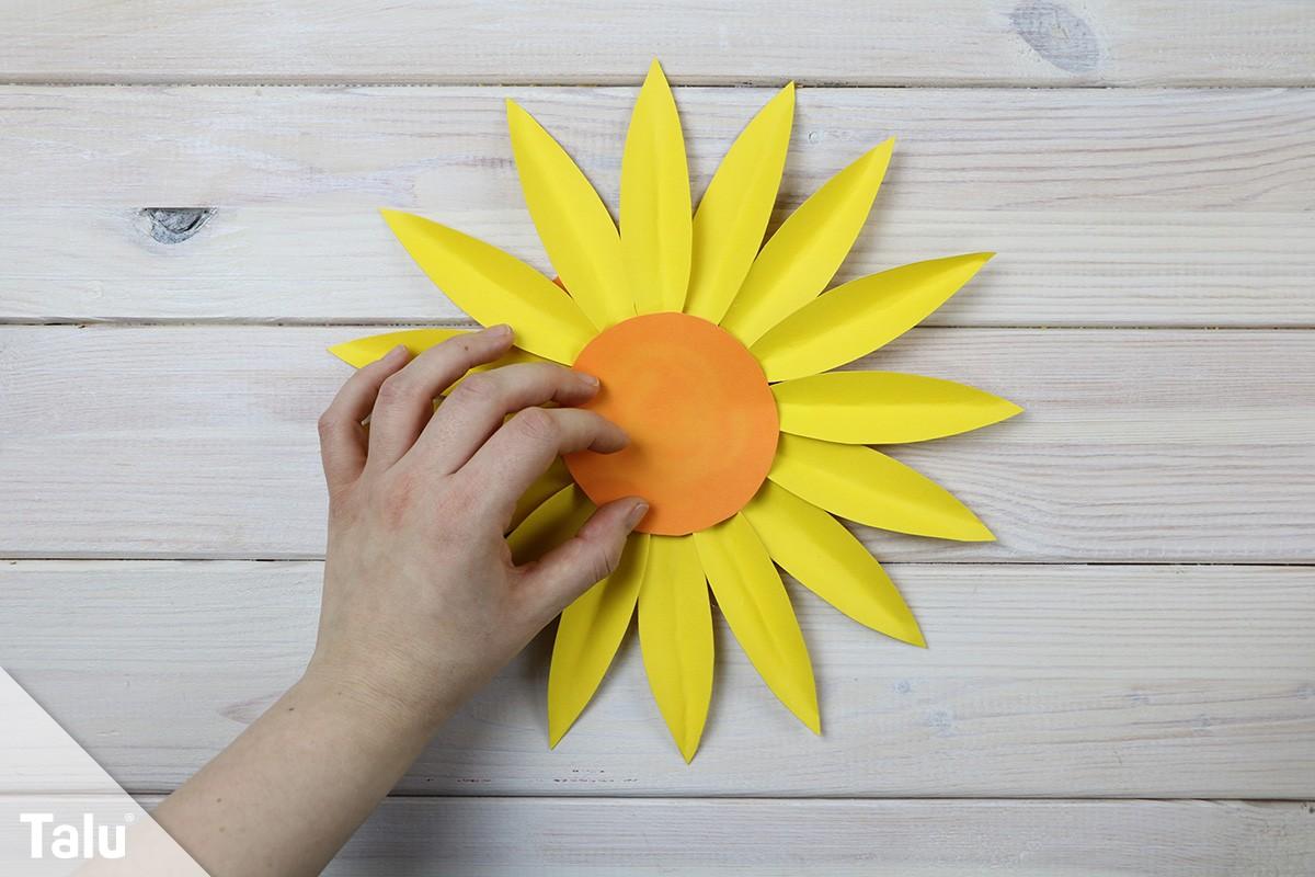 Bastelvorlage für Sonnenblume