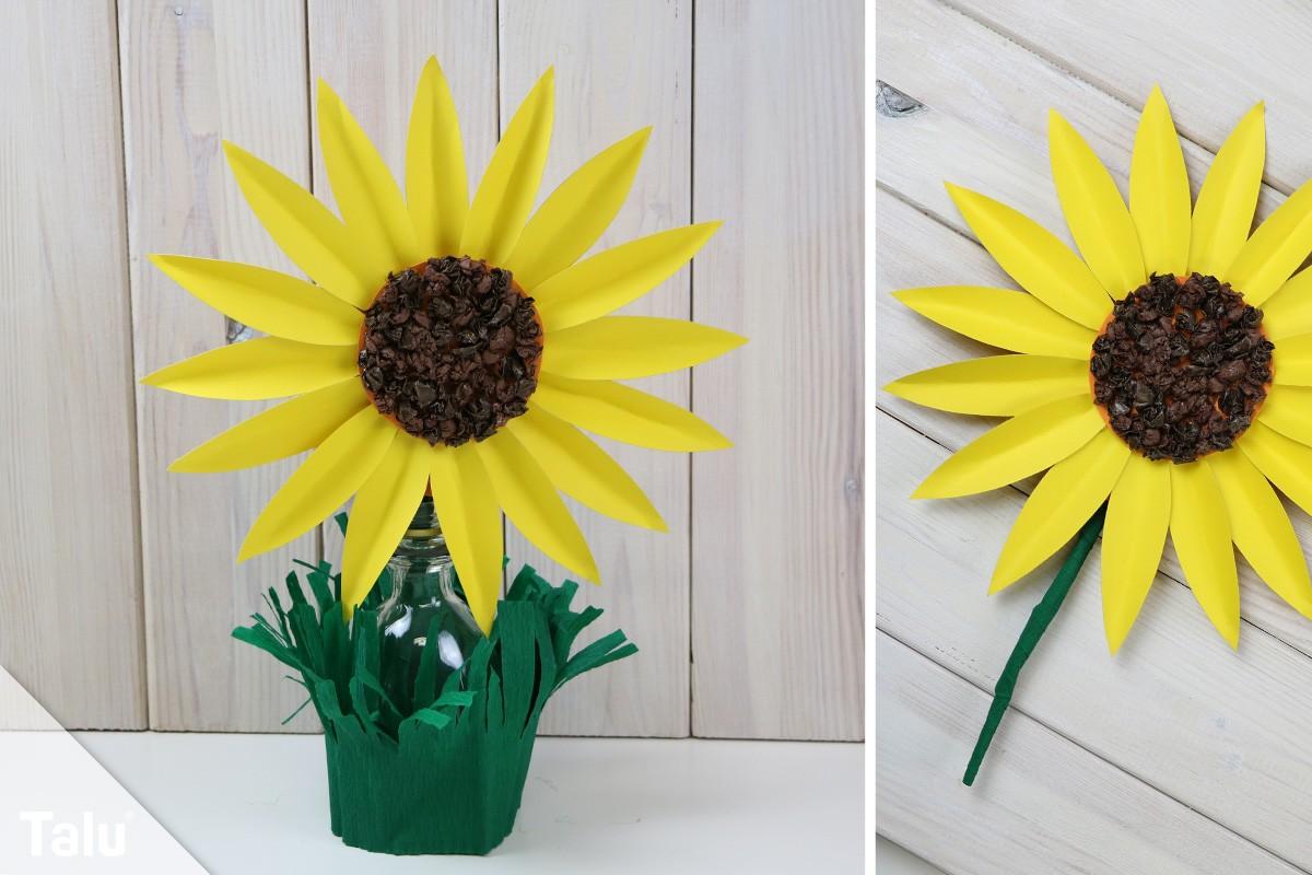 Sonnenblume aus Papier