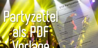 U18 Partyzettel