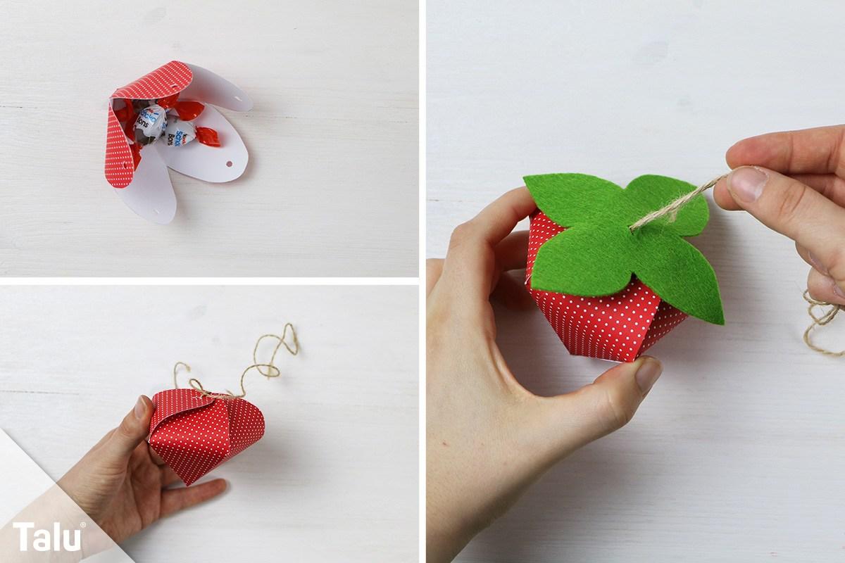 Erdbeere verschließen
