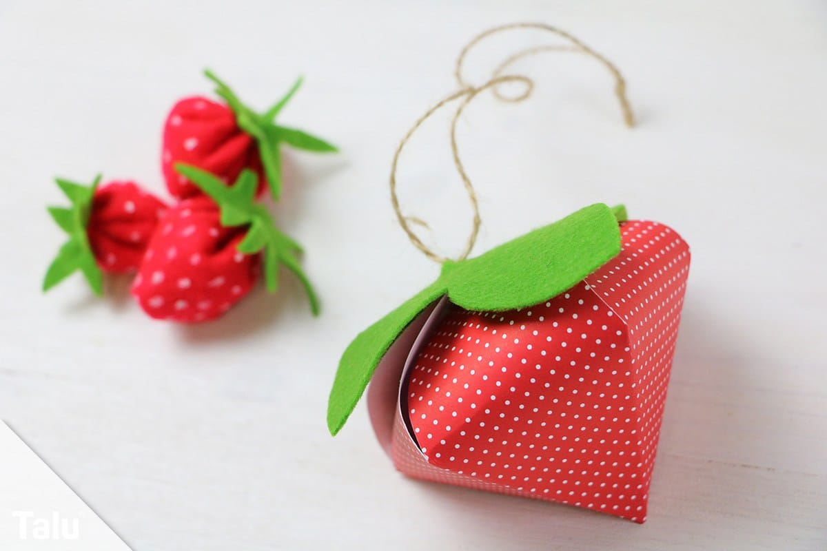 Erdbeeren basteln