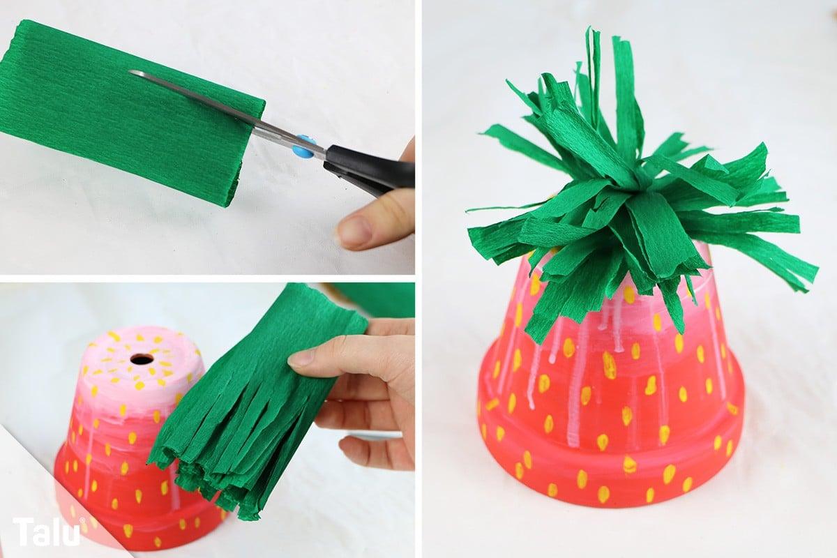 Erdbeere basteln