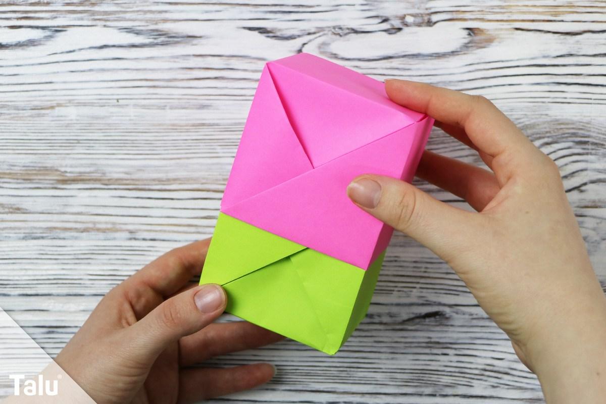 Papierschachtel falten
