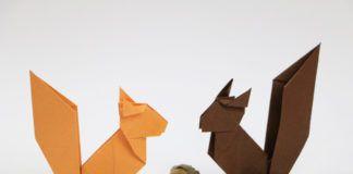 Origami Eichhörnchen basteln