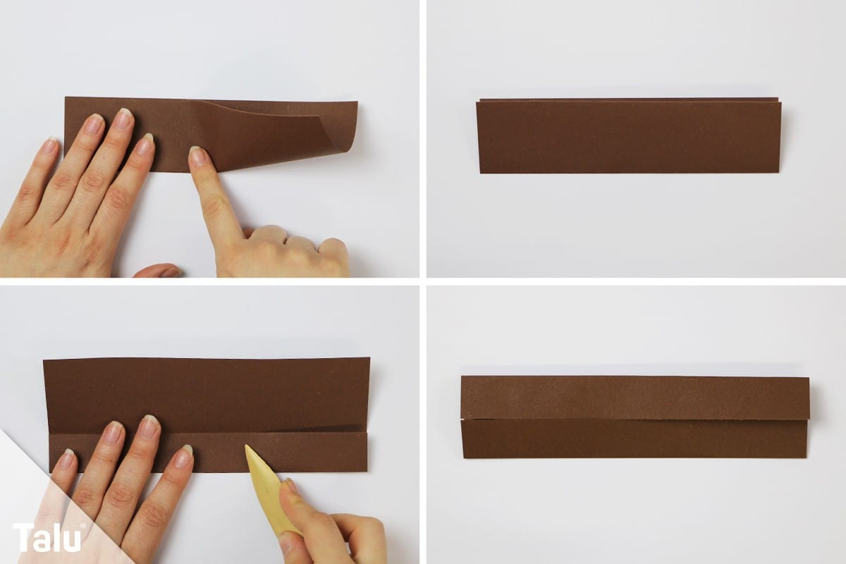 Papier längs falten