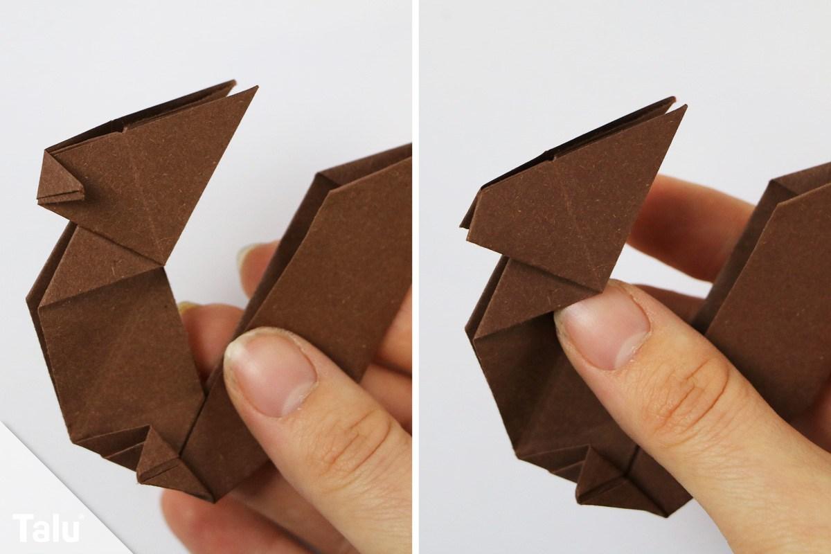Origami Eichhörnchen falten