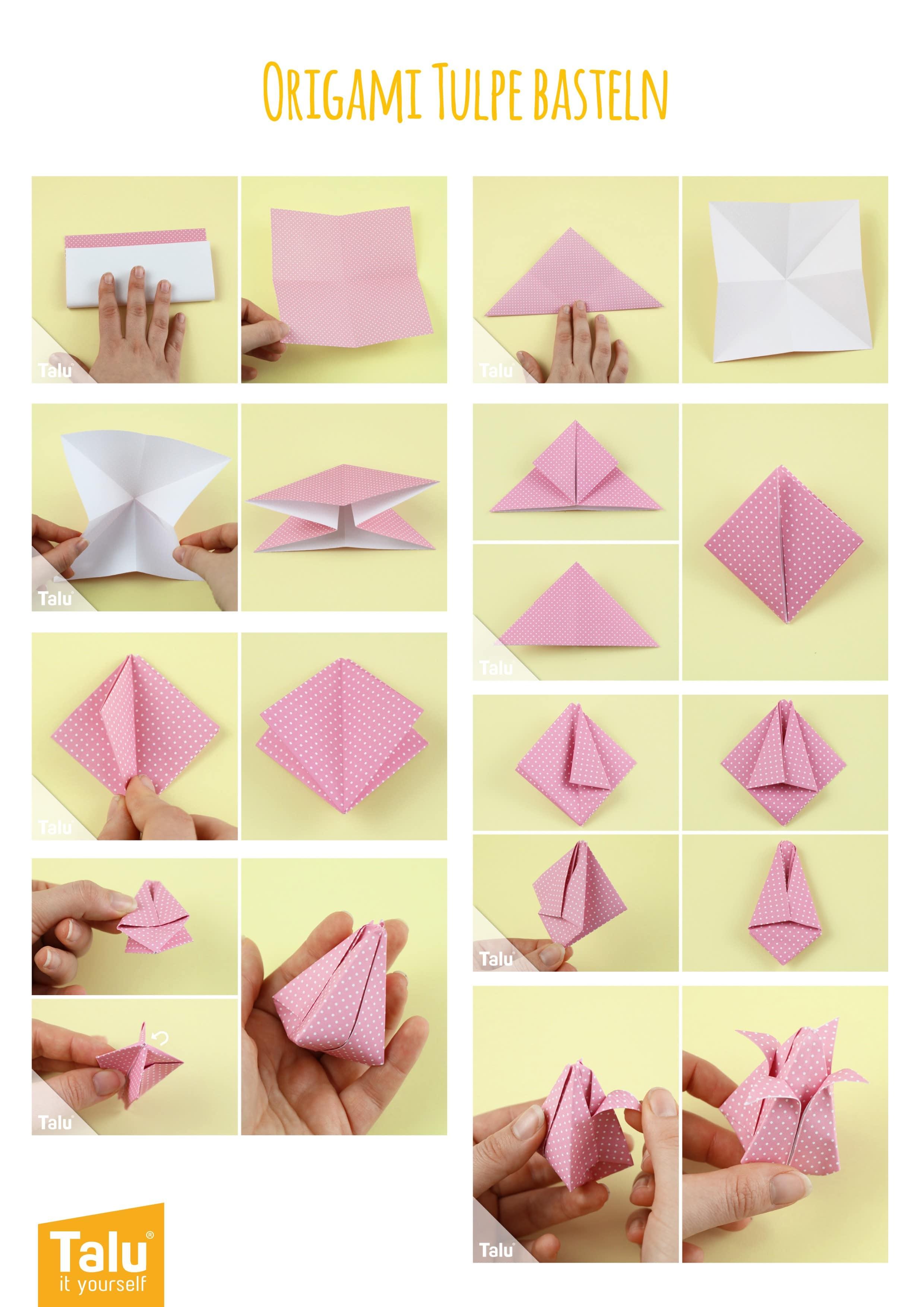 Tulpe aus Papier