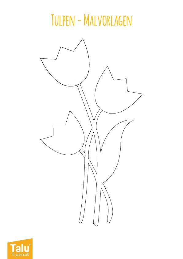 Malvorlage für Tulpen