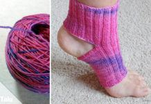 Yoga-Socken stricken