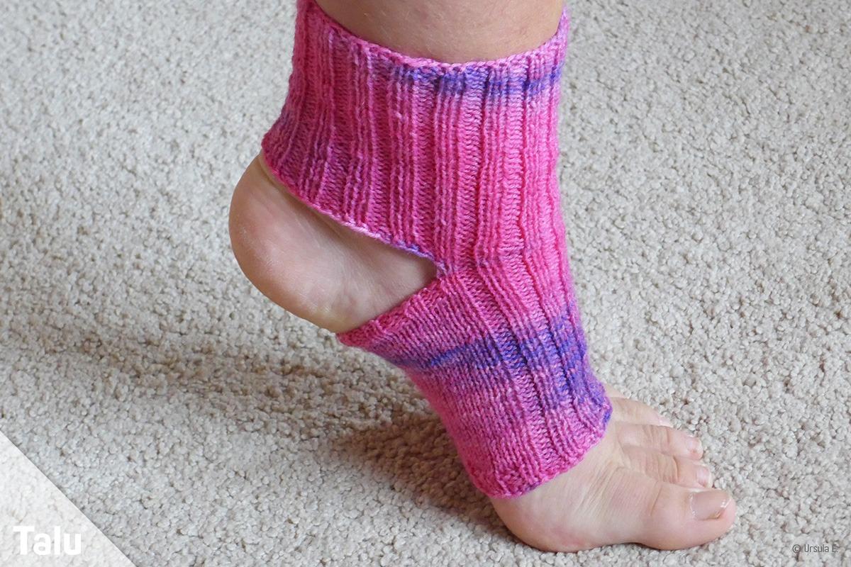 Yoga-Socken stricken