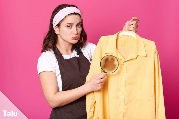 Brandflecken aus Kleidung entfernen
