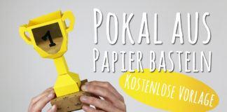 Pokal aus Papier basteln