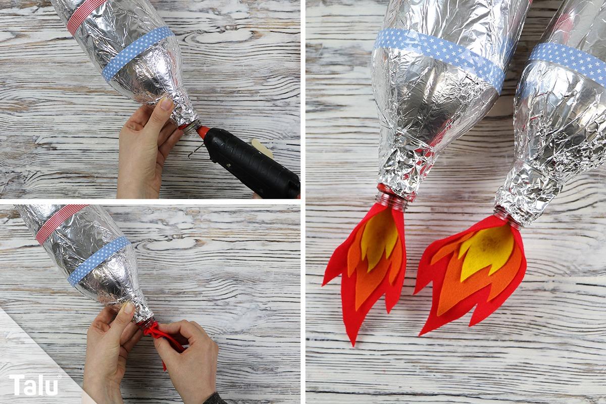Flammen befestigen
