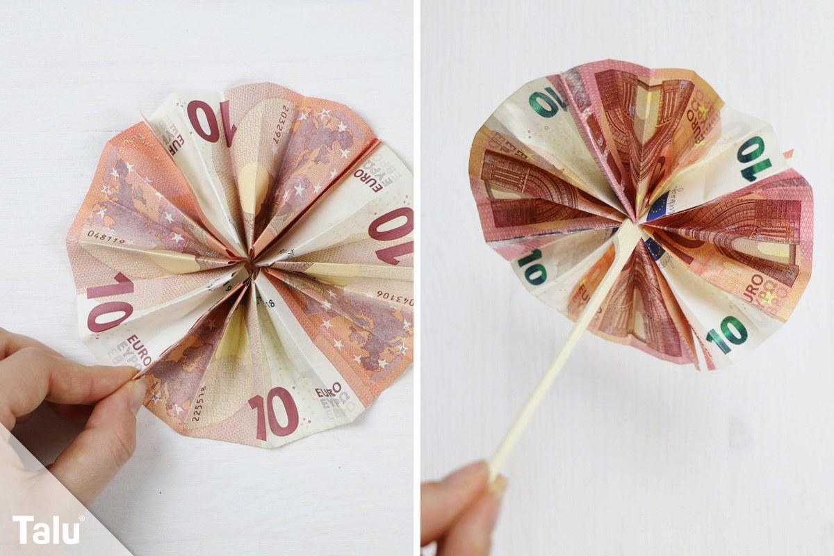 Sonnenschirm aus Geldscheinen