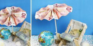 Sonnenschirm mit Liegestuhl