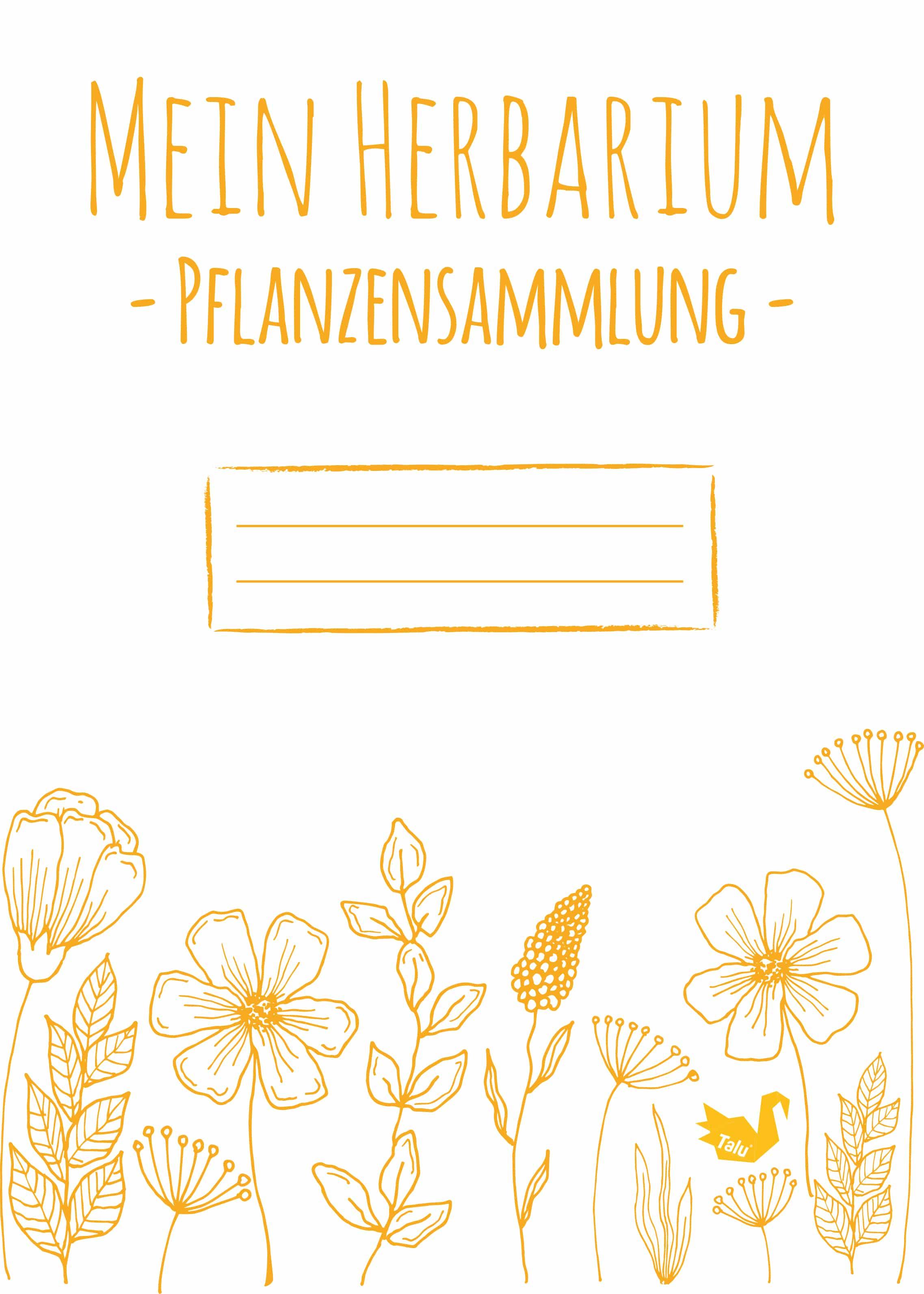 Deckblatt für Herbarium