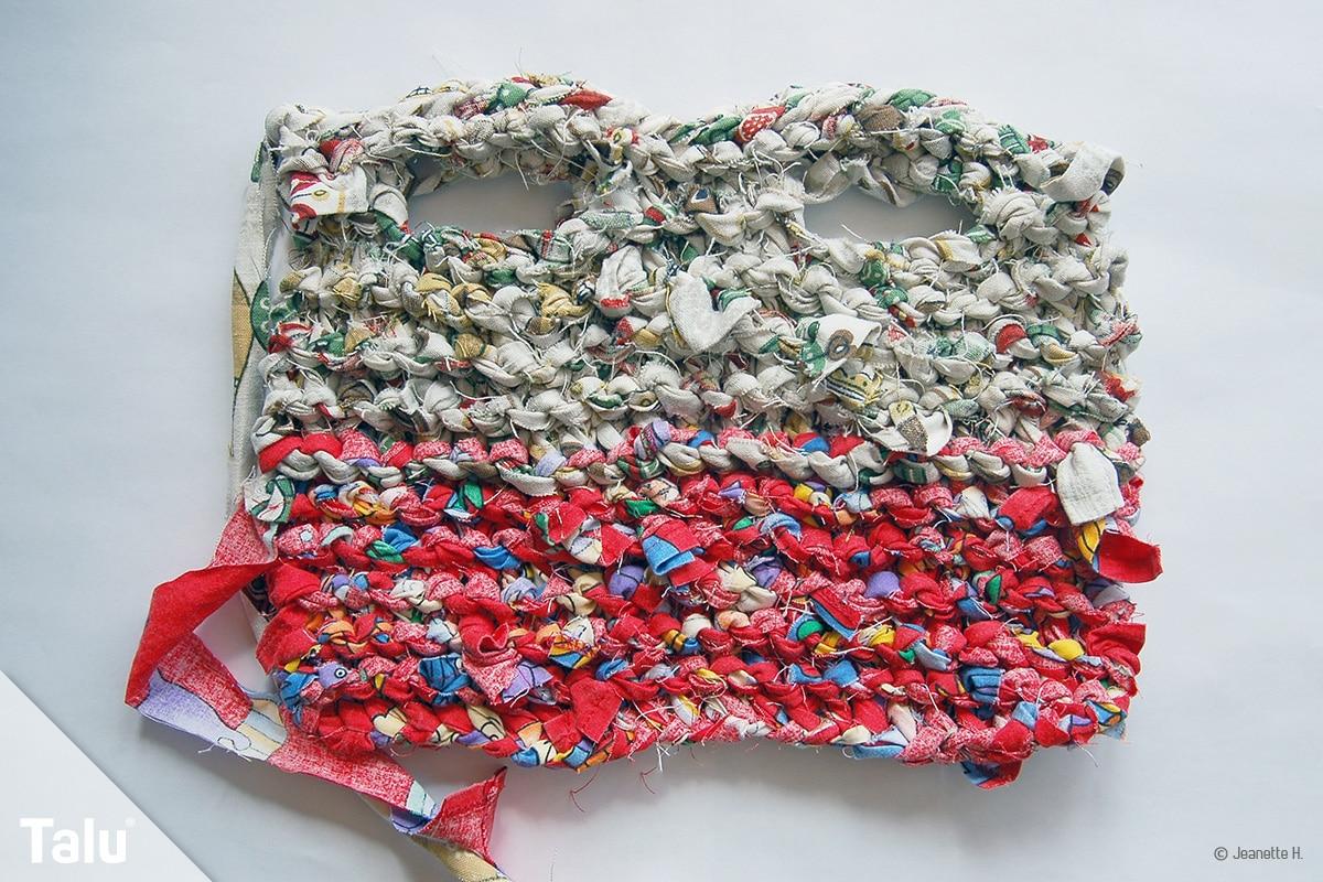 Tasche aus Stoffresten