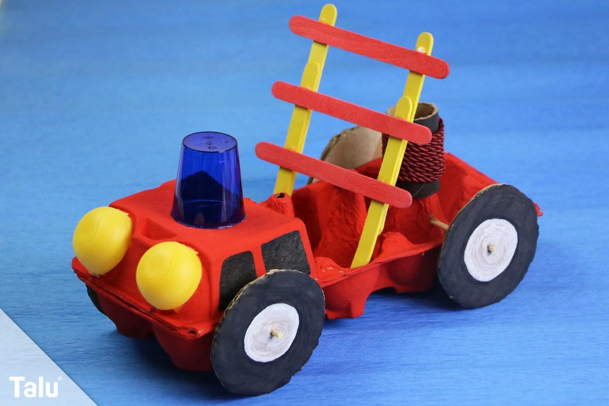 Feuerwehrauto basteln