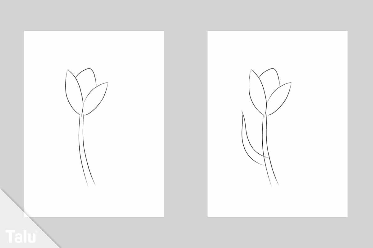 Blume malen