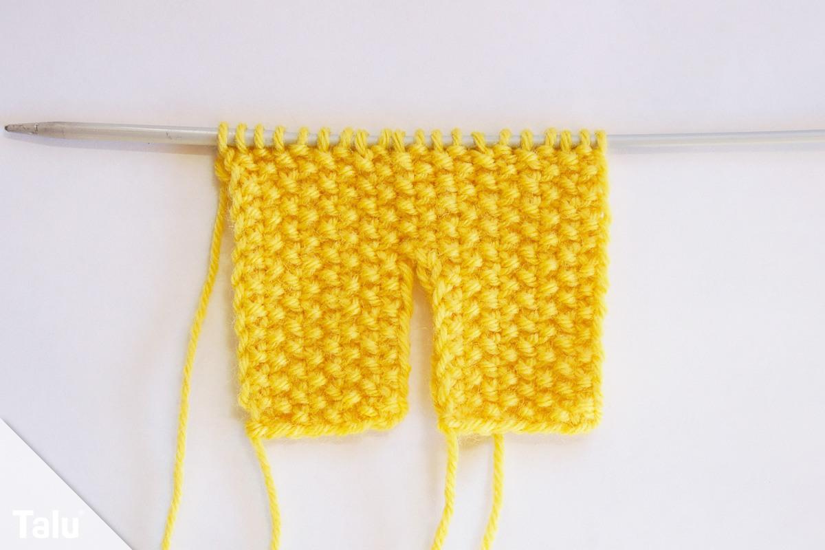 Stirnband mit Knoten stricken