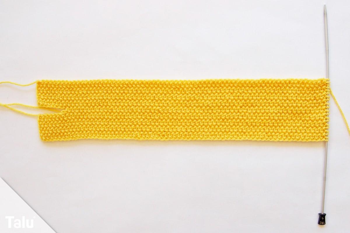 Knotenstirnband stricken
