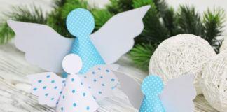 Engel mit Kindern basteln