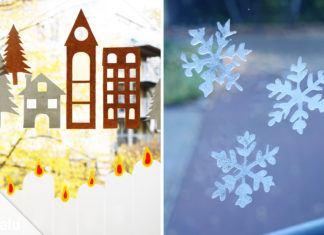 Fensterdeko für Weihnachten