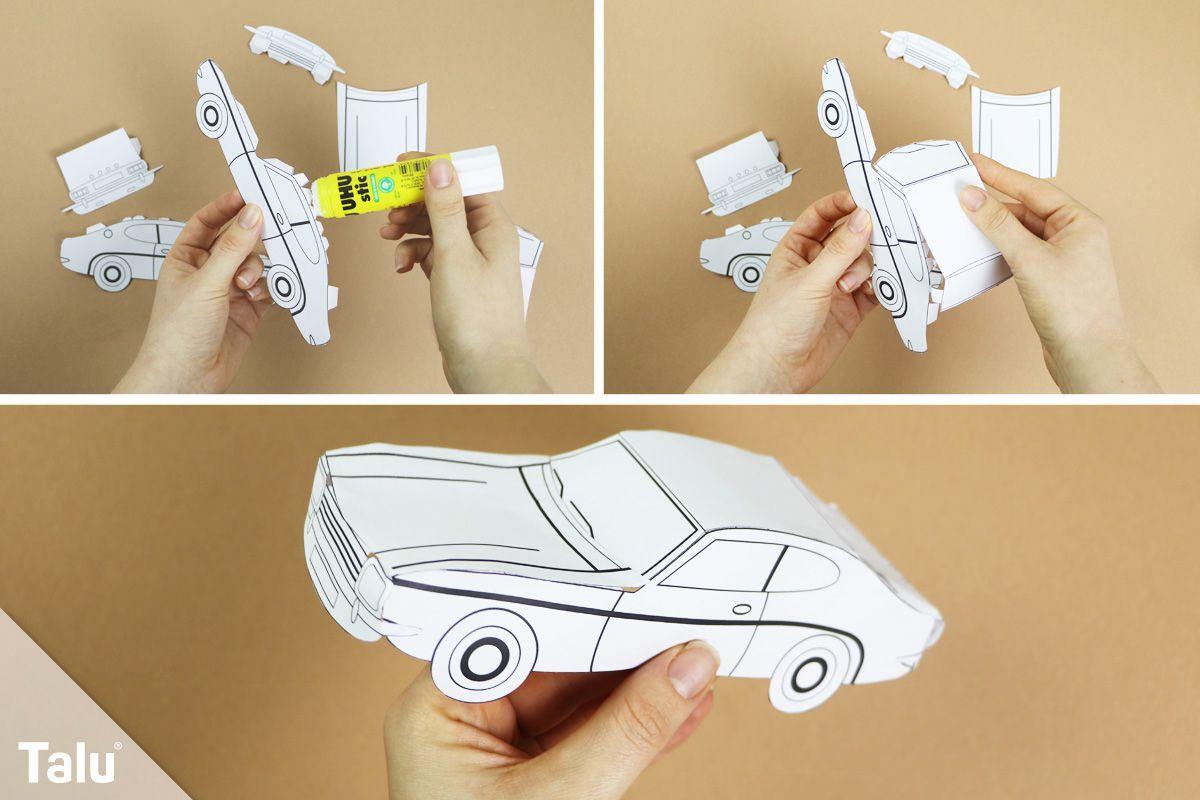 Auto aus Papier basteln