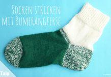 Socken stricken mit Bumerangferse