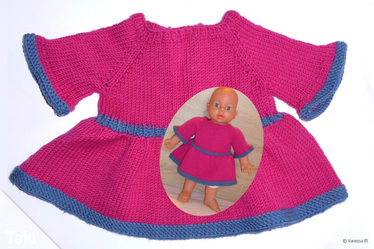 Puppenkleid stricken