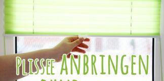 Plissee anbringen ohne bohren