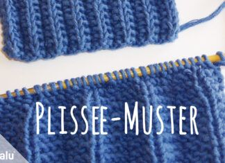 Plissee stricken