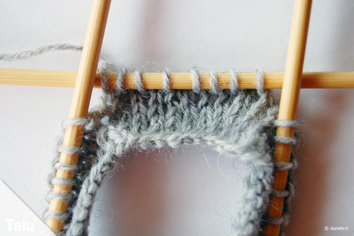 Sockenspitze stricken