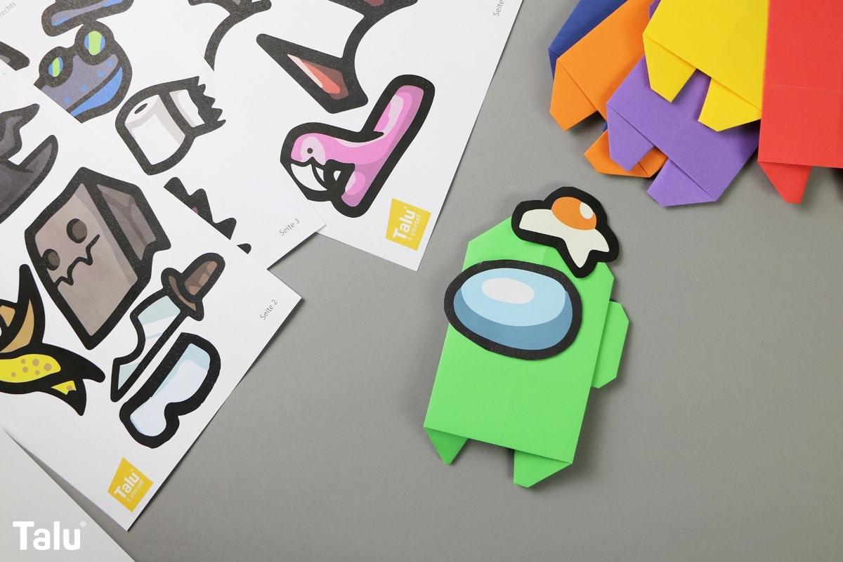 Origami Among Us falten