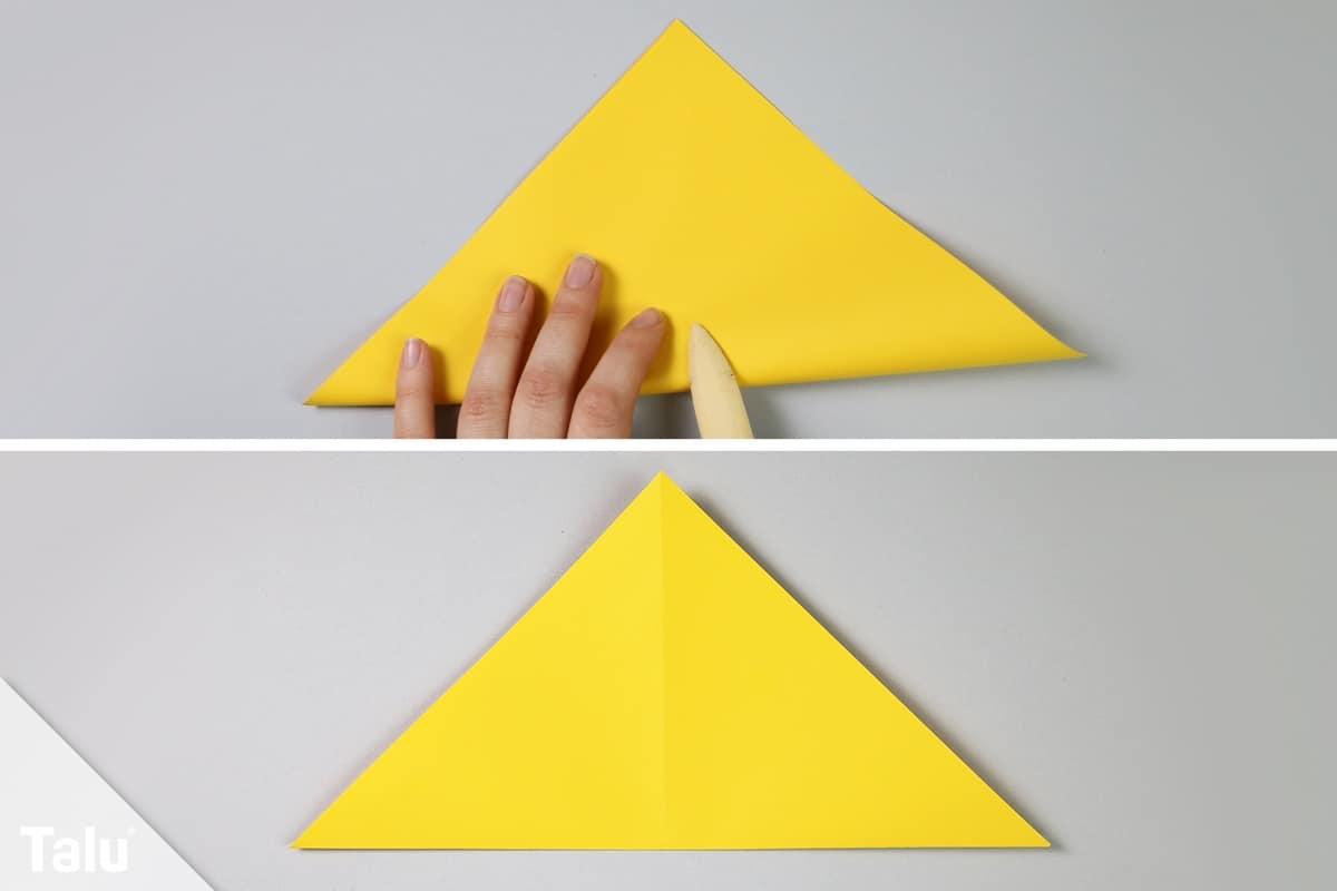 Origami-Vogel falten