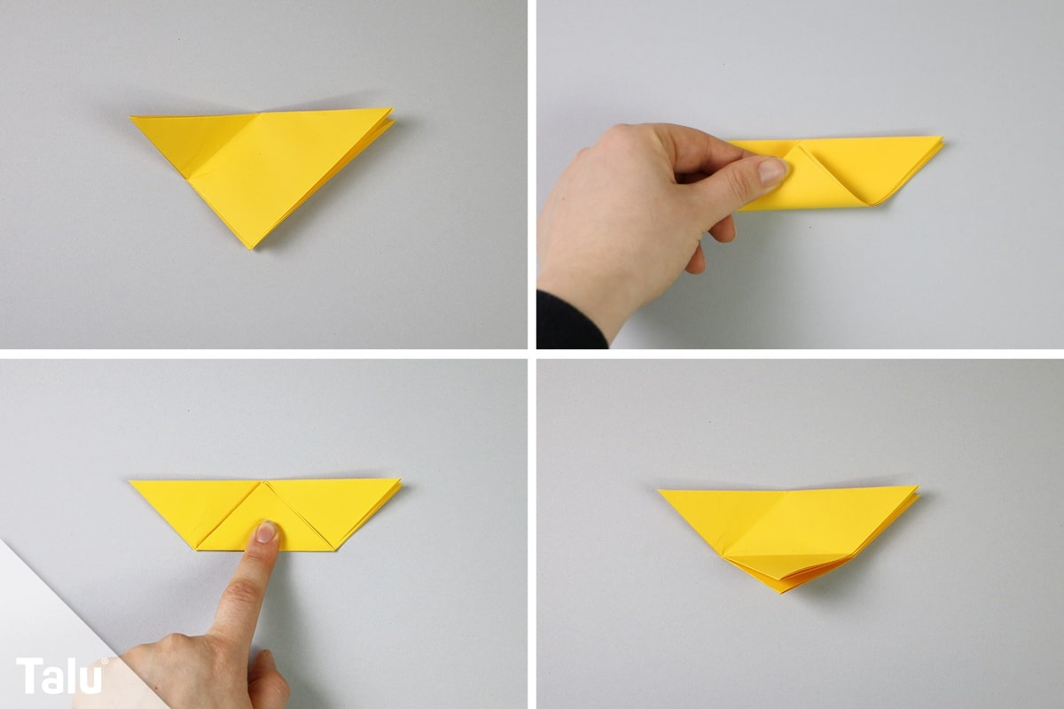 Origami-Vögel falten