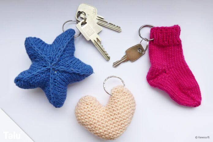 Schlüsselanhänger stricken