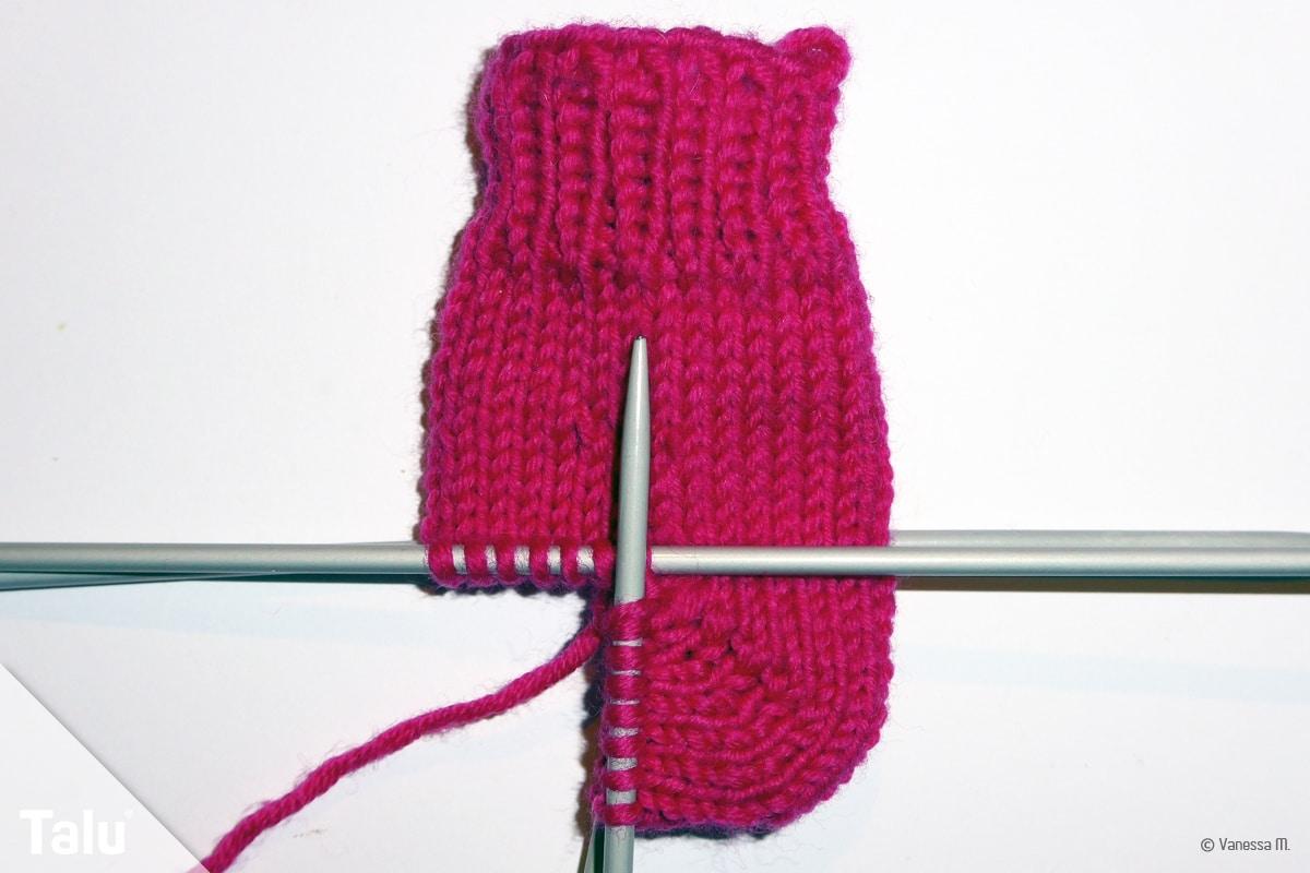 Mini-Socke stricken