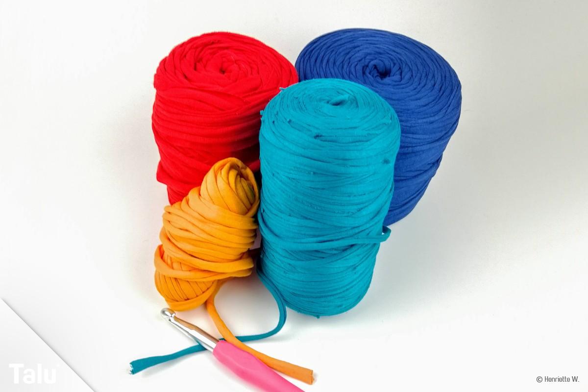 Textilgarn verhäkeln