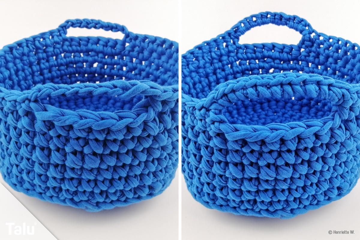 Korb häkeln mit Textilgarn