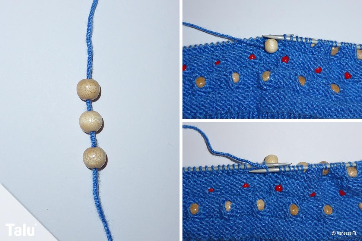 Perlen einstricken