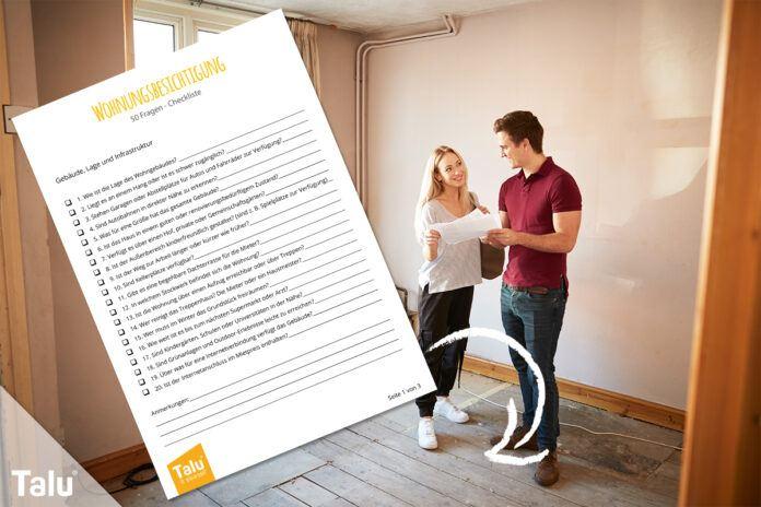 Wohnungsbesichtigung Checkliste