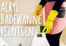 Acryl-Badewanne reinigen