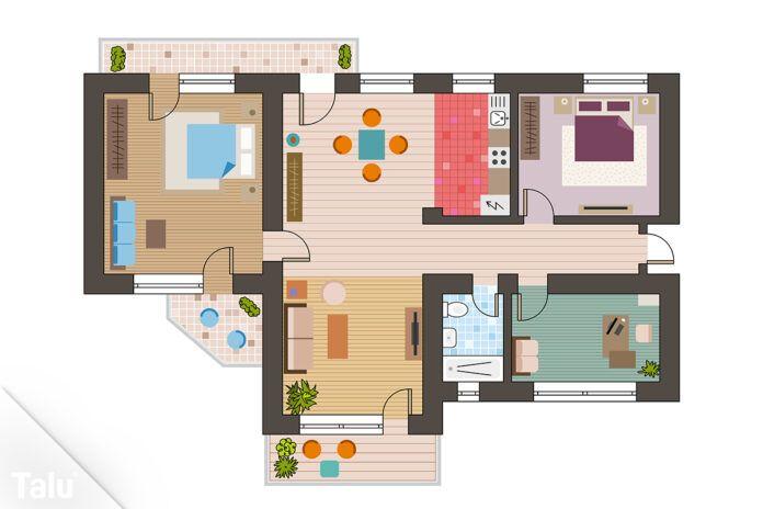 Zimmer einer Wohnung